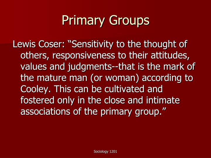 Primary Groups