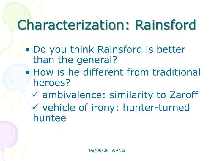 Characterization: Rainsford