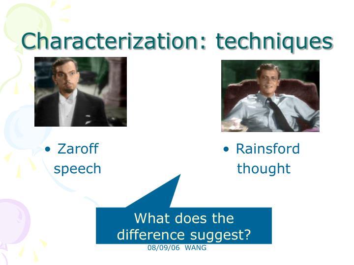 Characterization: techniques