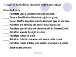 lead in activities student representative