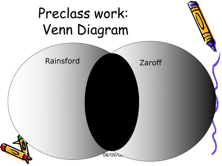 Preclass work: