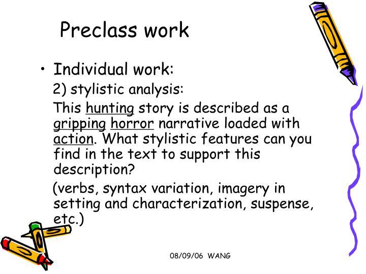 Preclass work
