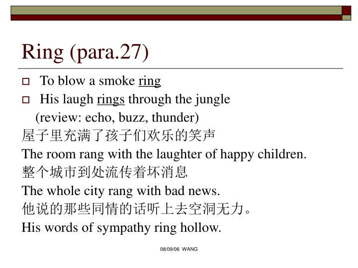 Ring (para.27)