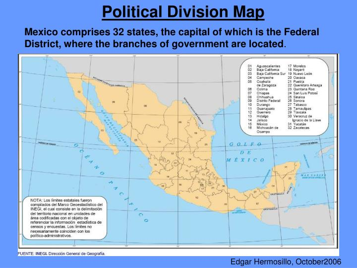 Political Division Map