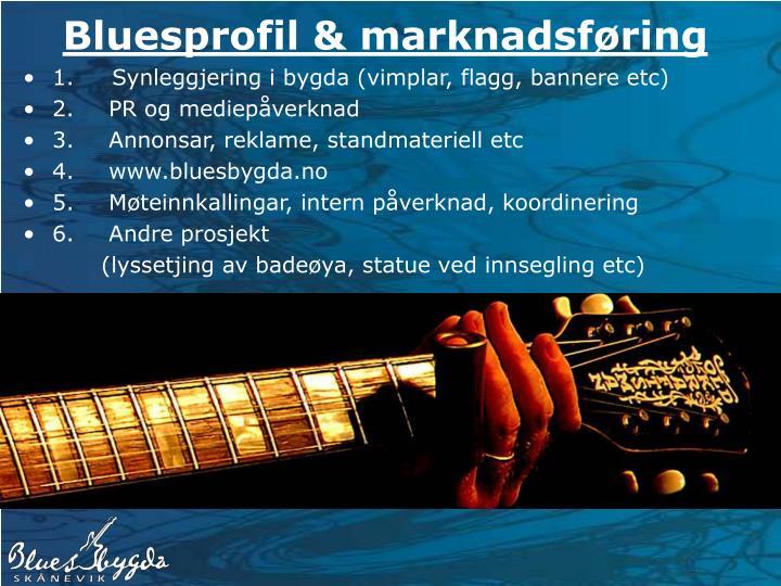 Bluesprofil & marknadsføring