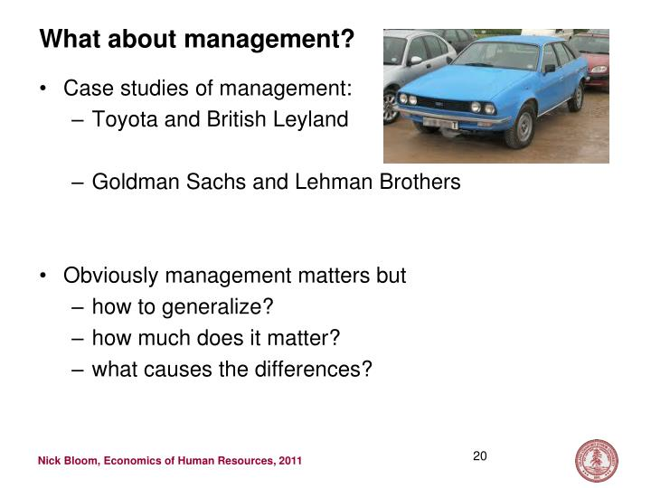 What about management?