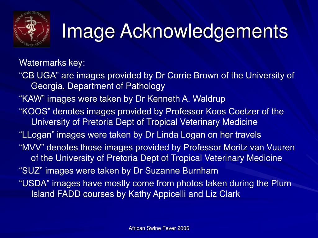 Image Acknowledgements