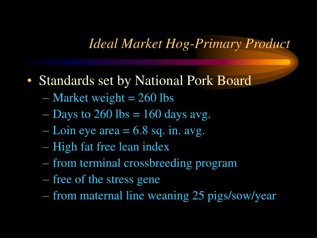 Ideal Market Hog-Primary Product