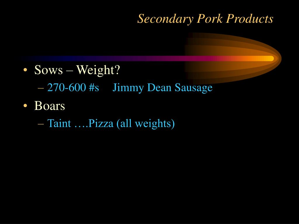 Secondary Pork Products
