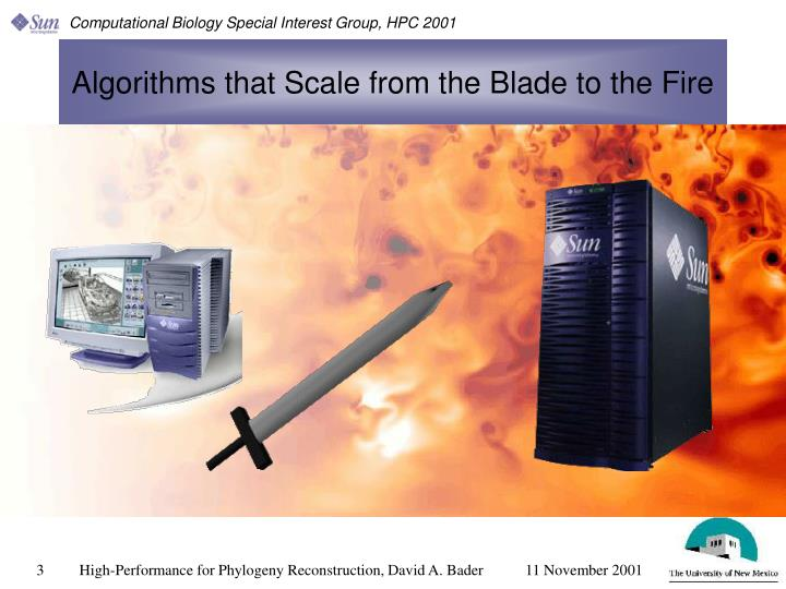 Algorithms that scale from the blade to the fire
