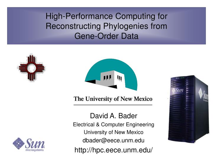 High performance computing for reconstructing phylogenies from gene order data