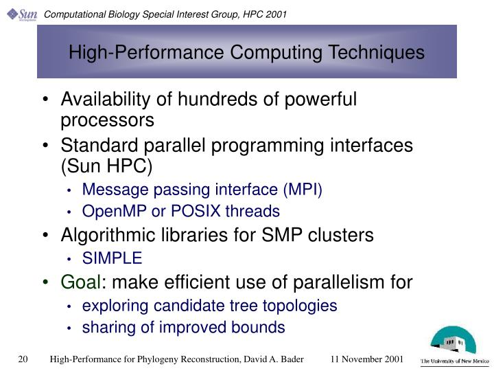High-Performance Computing Techniques
