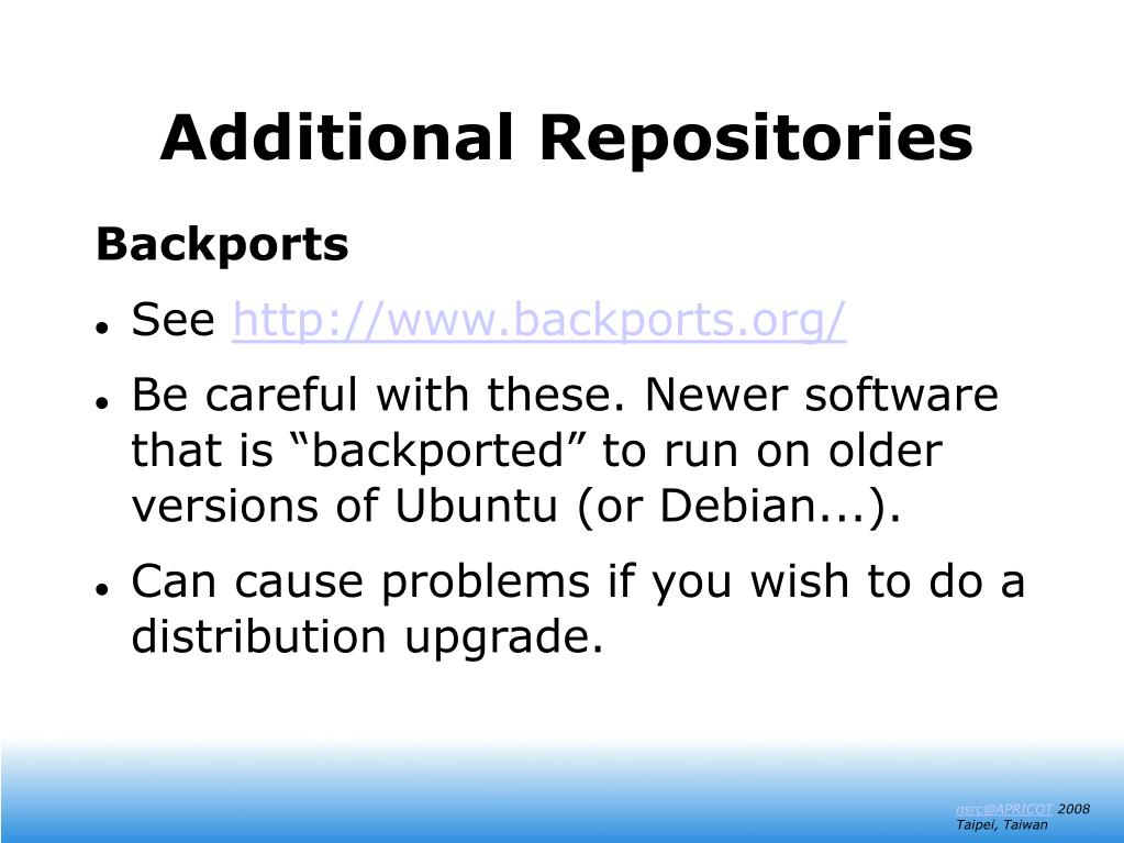 Additional Repositories