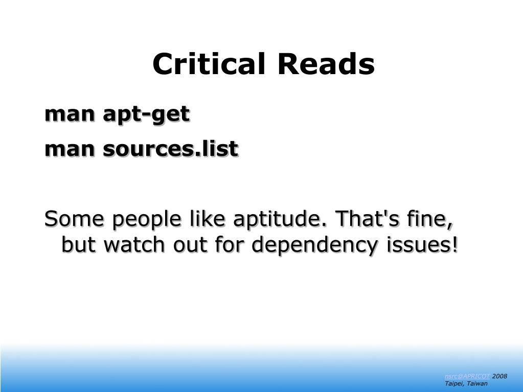 Critical Reads