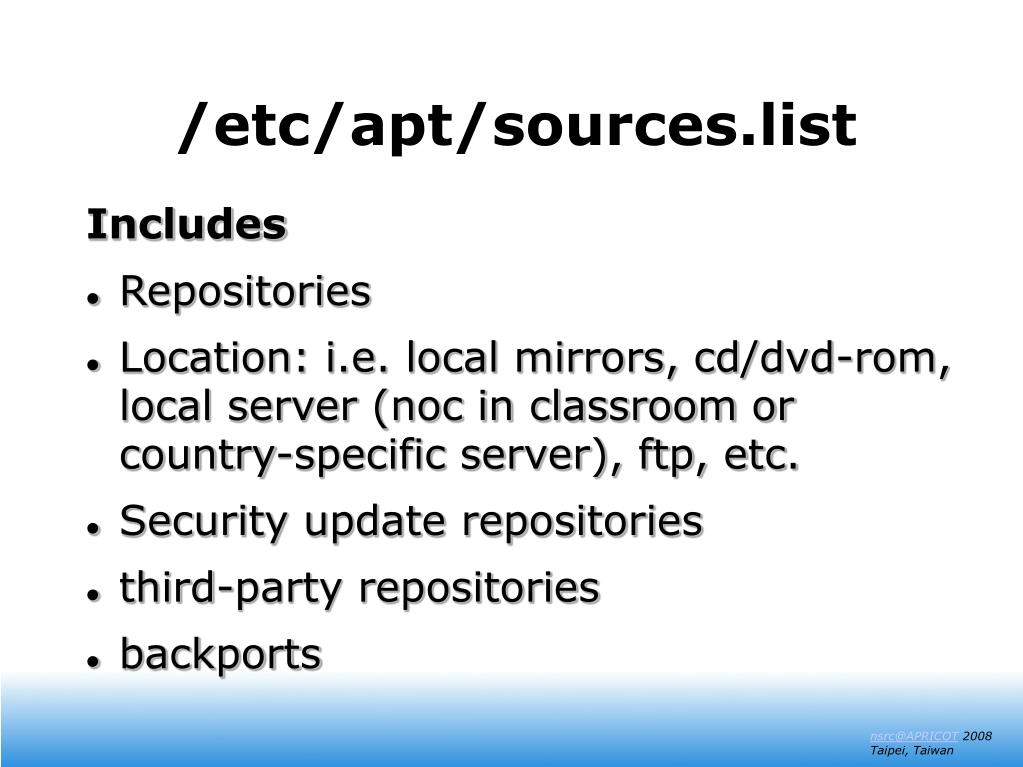 /etc/apt/sources.list