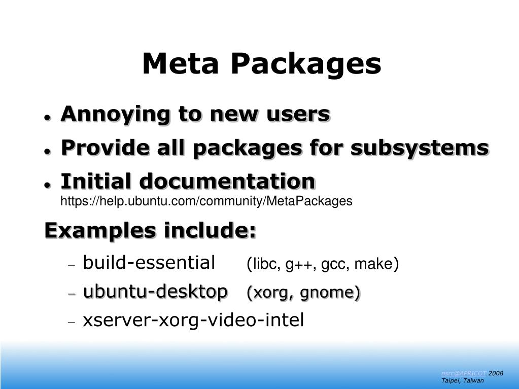 Meta Packages
