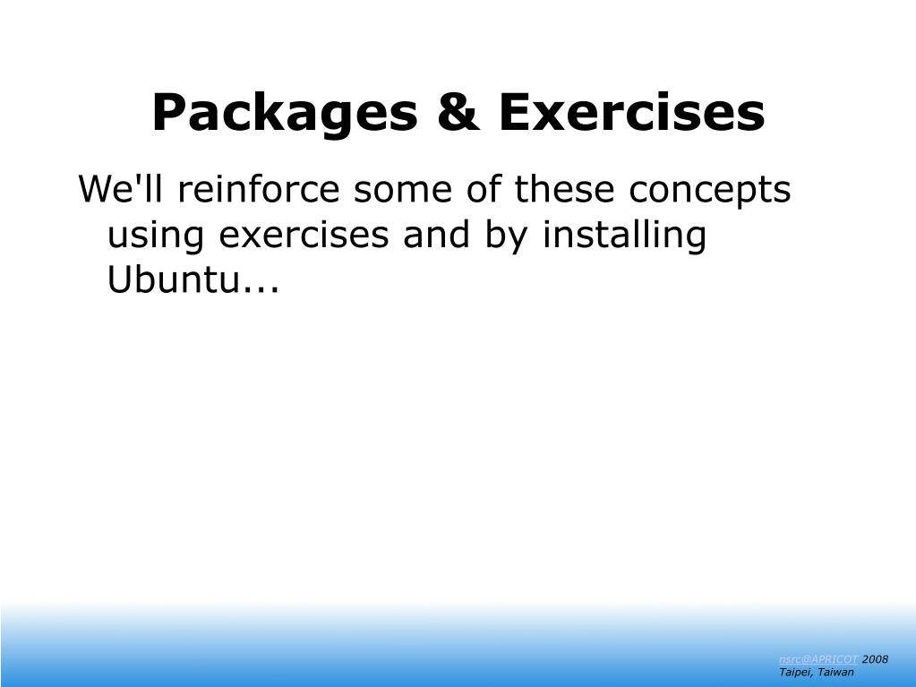 Packages & Exercises