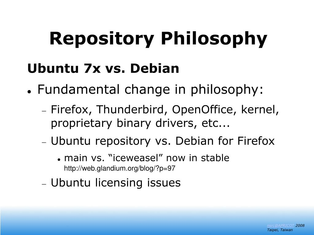 Repository Philosophy