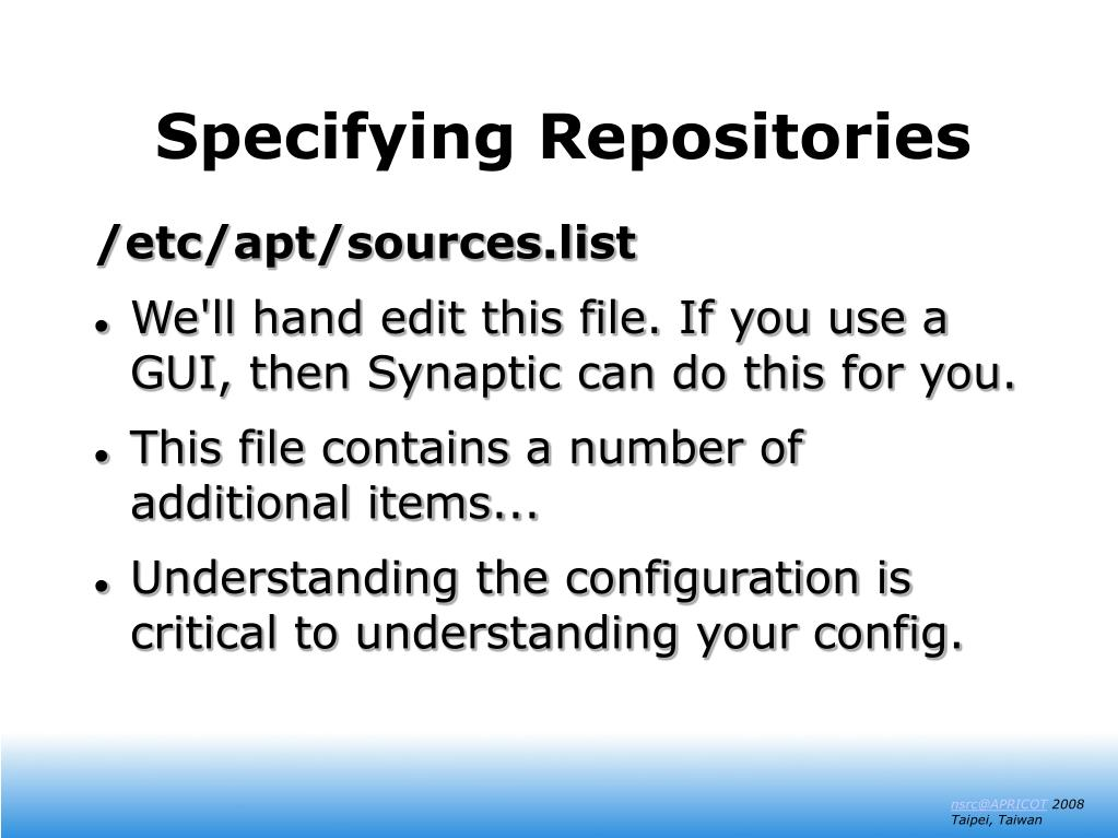 Specifying Repositories