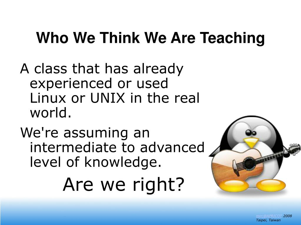 Who We Think We Are Teaching