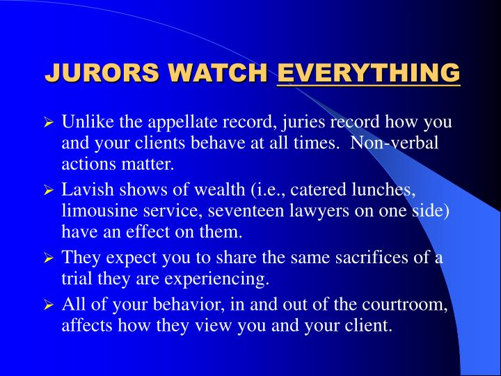 JURORS WATCH