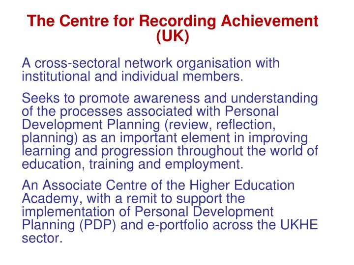The Centre for Recording Achievement