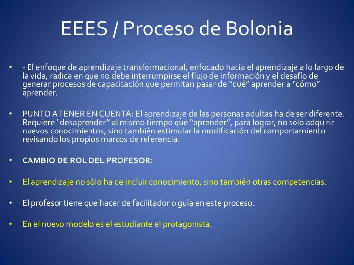 EEES / Proceso de Bolonia