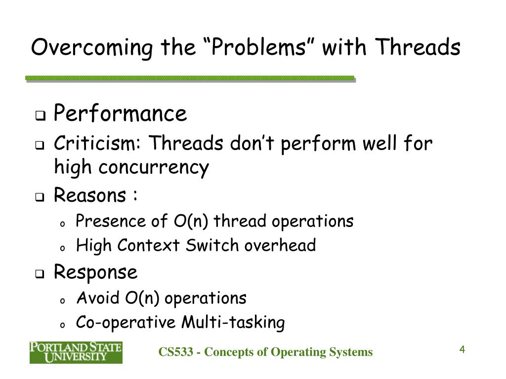 "Overcoming the ""Problems"" with Threads"