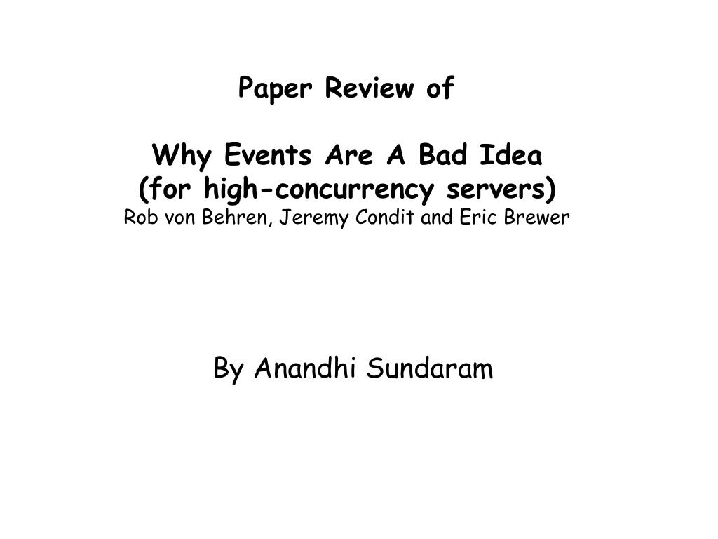 Paper Review of