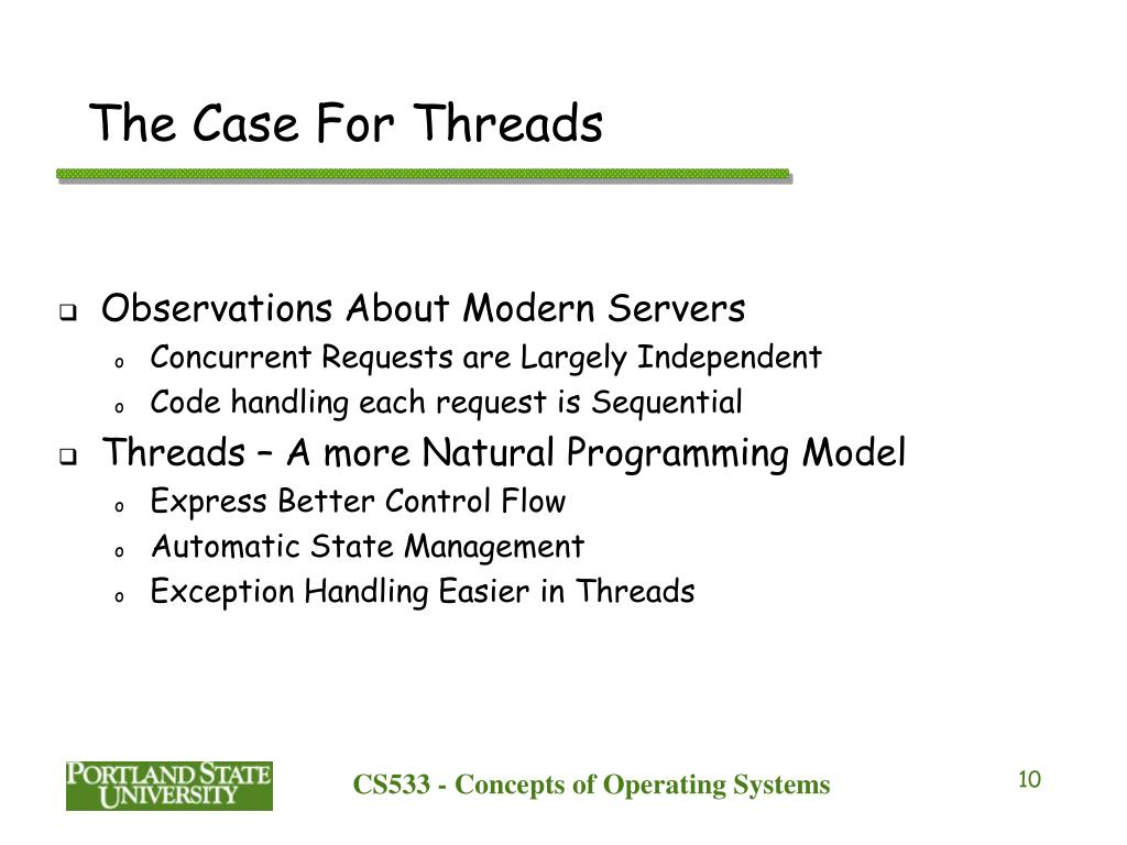 The Case For Threads