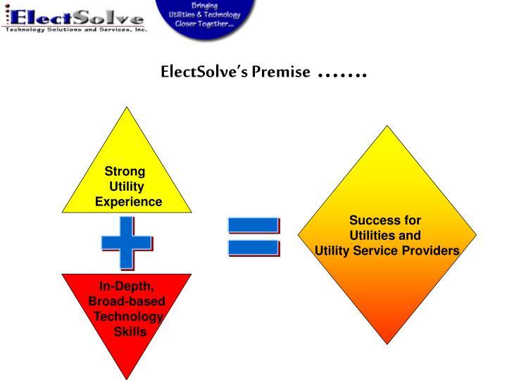 ElectSolve's Premise