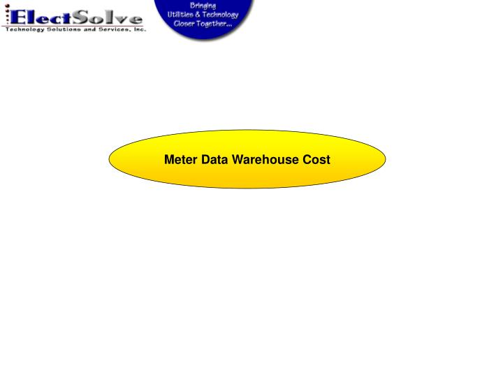 Meter Data Warehouse Cost
