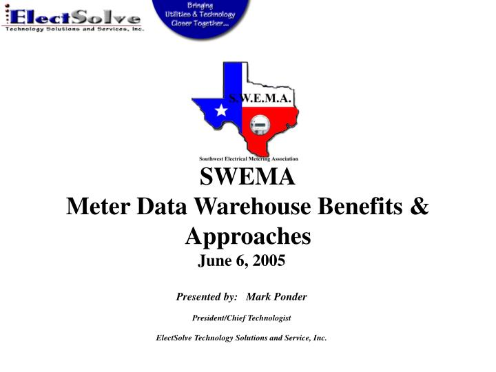 Swema meter data warehouse benefits approaches