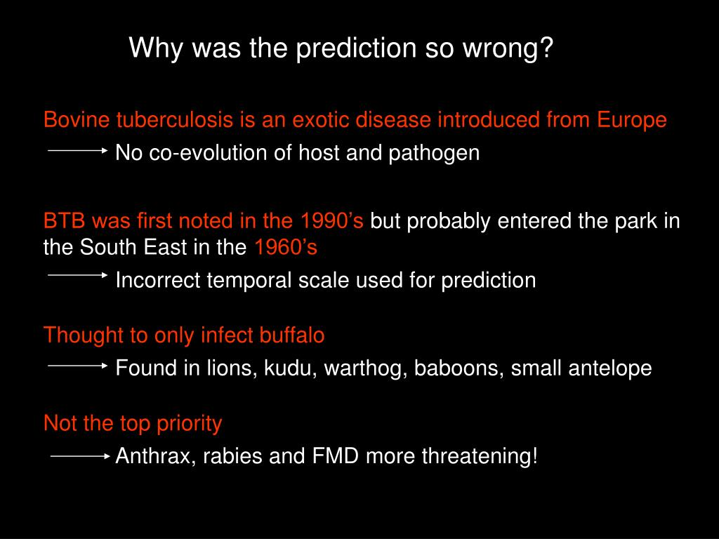 Bovine tuberculosis is an exotic disease introduced from Europe