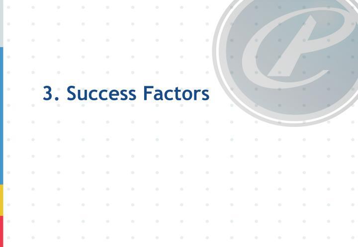 3. Success Factors