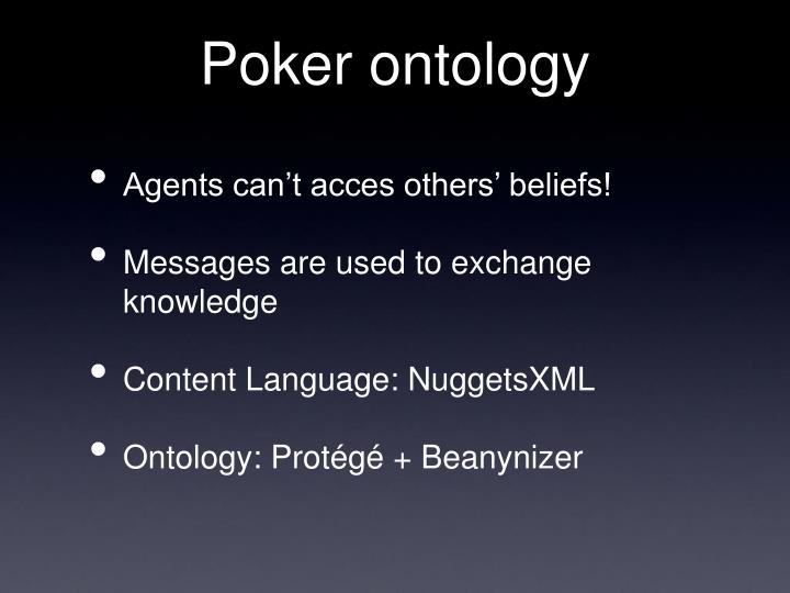 Poker ontology