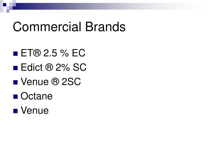 Commercial brands