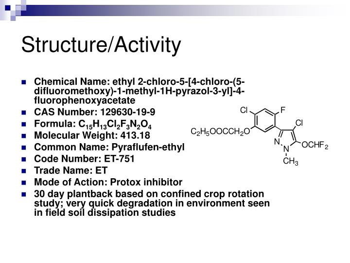Structure/Activity