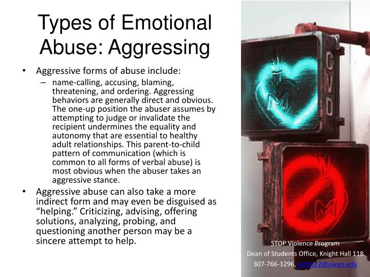 Types of Emotional Abuse: Aggressing