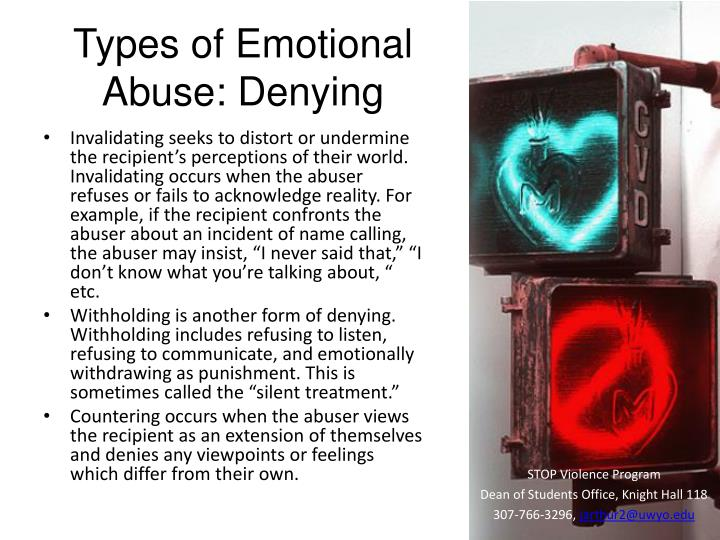 Types of Emotional Abuse: Denying
