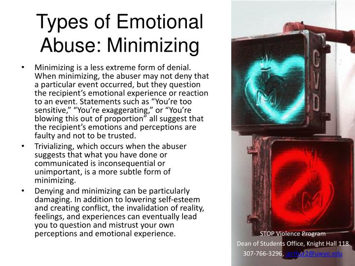 Types of Emotional Abuse: Minimizing