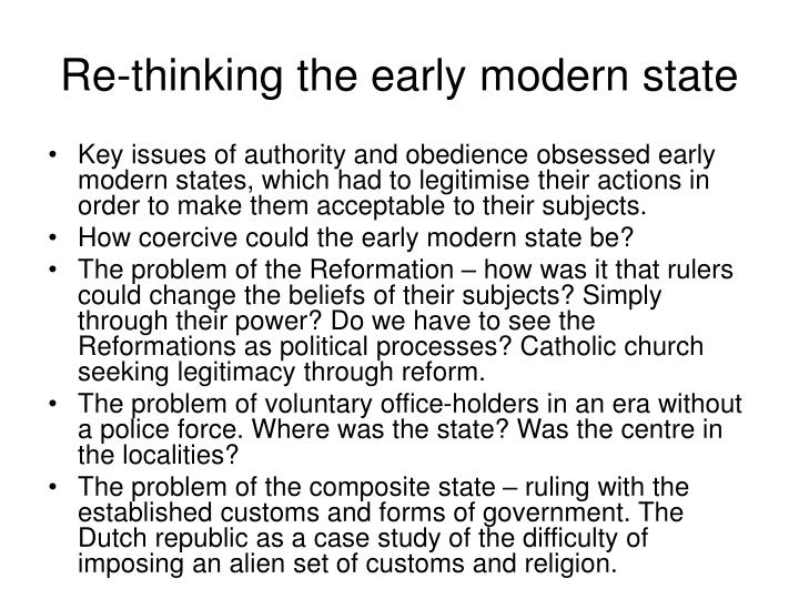 Re-thinking the early modern state