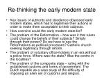 re thinking the early modern state