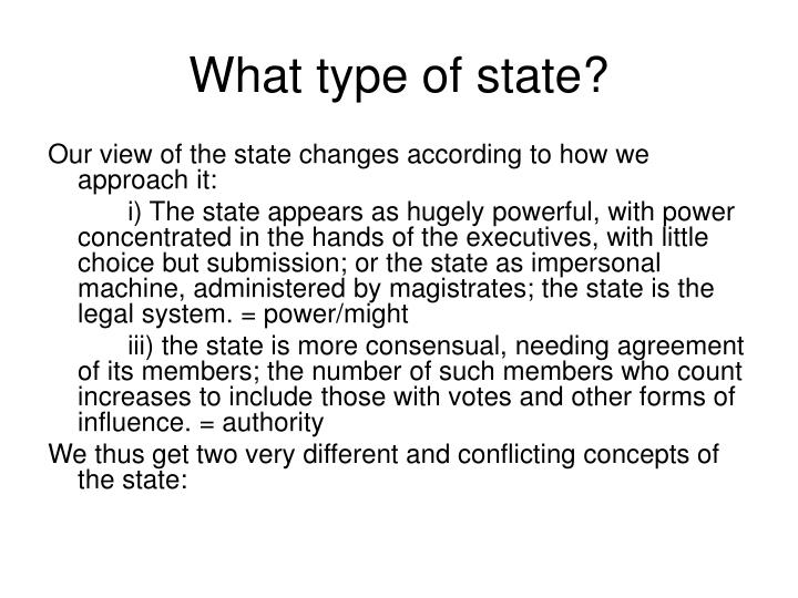 What type of state?