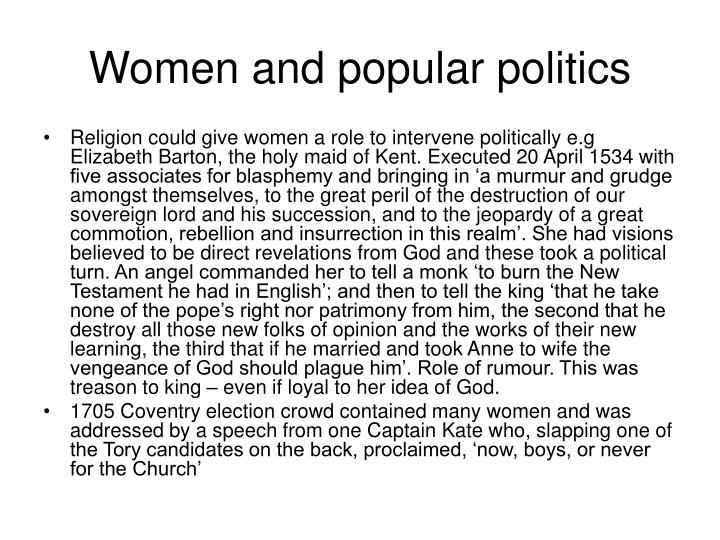 Women and popular politics