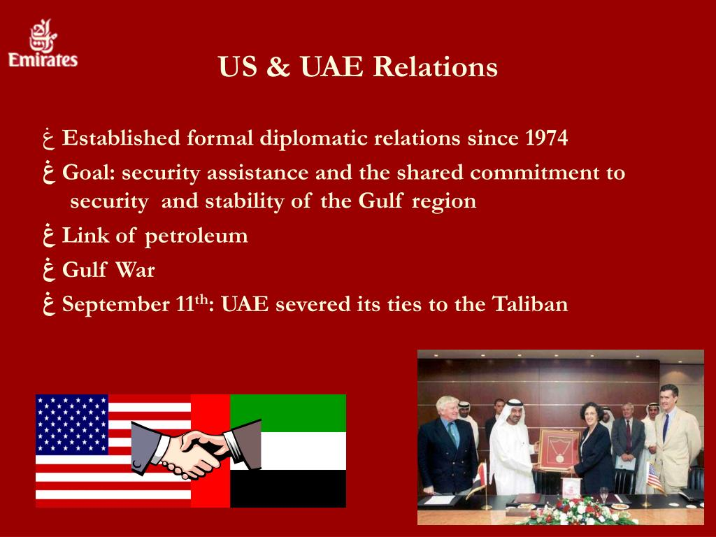 US & UAE Relations