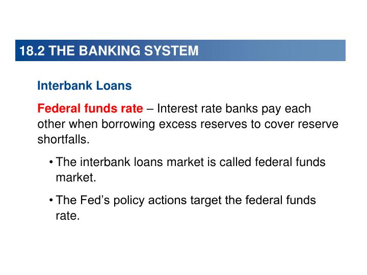 18.2 THE BANKING SYSTEM