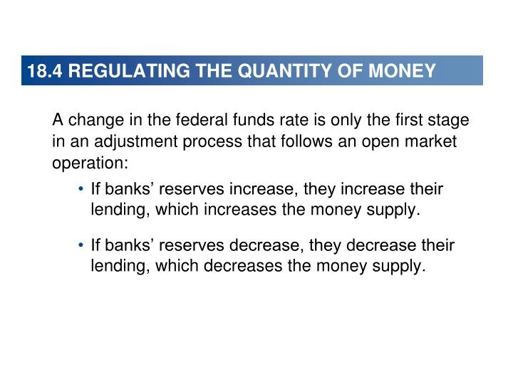 18.4 REGULATING THE QUANTITY OF MONEY
