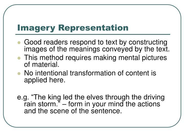Imagery Representation