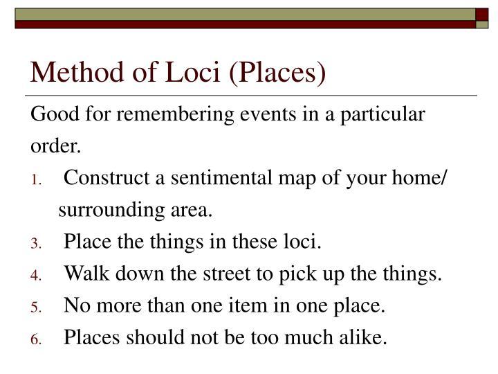 Method of Loci (Places)